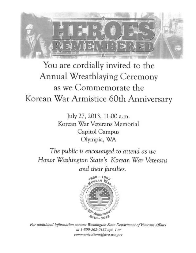 2013 Korean War Wreathlaying Ceremony